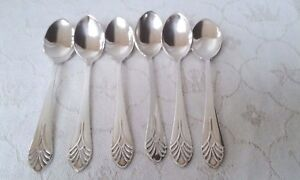 Art Deco style NS coffee spoons in original box