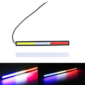 2X Car LED Lights 12V Bright White COB Light Bulb 17cm For DRL Fog Driving Lamp