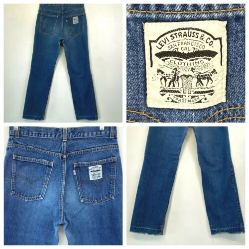 Vintage 80s Levis Mom Jeans White Patch Tab size 1