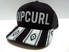 NEW RIP CURL SURF PEACE TRIBE TRUCKER BLACK SNAPBACK HAT 1SIZE Z459