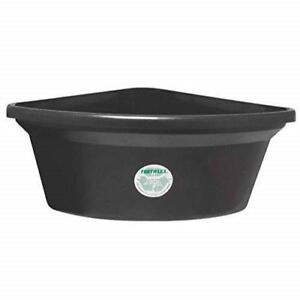 Fortiflex Corner Feeder for Dogs and Horses, 6-Gallon, Black