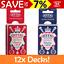 12x-Decks-Bulk-Buy-Queen-039-s-Slipper-52-039-s-Playing-Cards-Blue-Red-Casino-Quality thumbnail 2