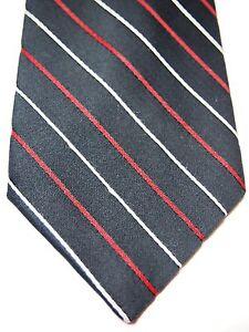 Wemlon-Wembley-Black-White-Red-Polka-Dot-Striped-Mens-Necktie-Tie-55-034-Short