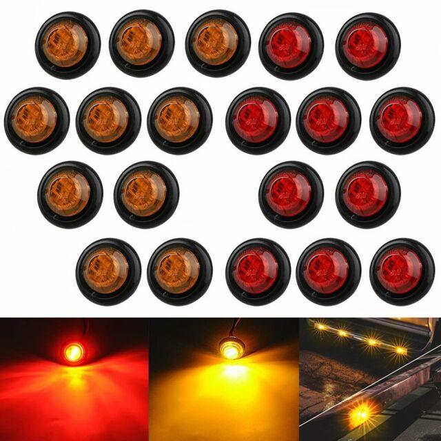 20x Red Amber Mini 12v 3  4 U0026quot  Round Marker Light Clearance 3