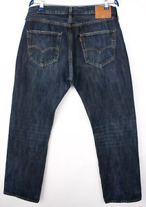 Levi-039-s-Strauss-amp-Co-Hommes-501-Jeans-Jambe-Droite-Taille-W36-L32-ARZ1269