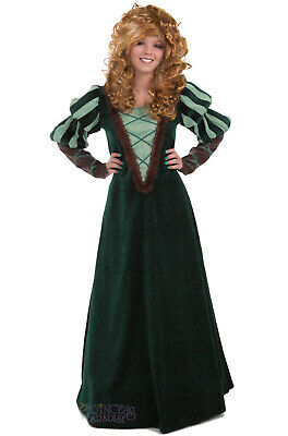 Brand New Renaissance Green Forest Princess Adult Costume   eBay