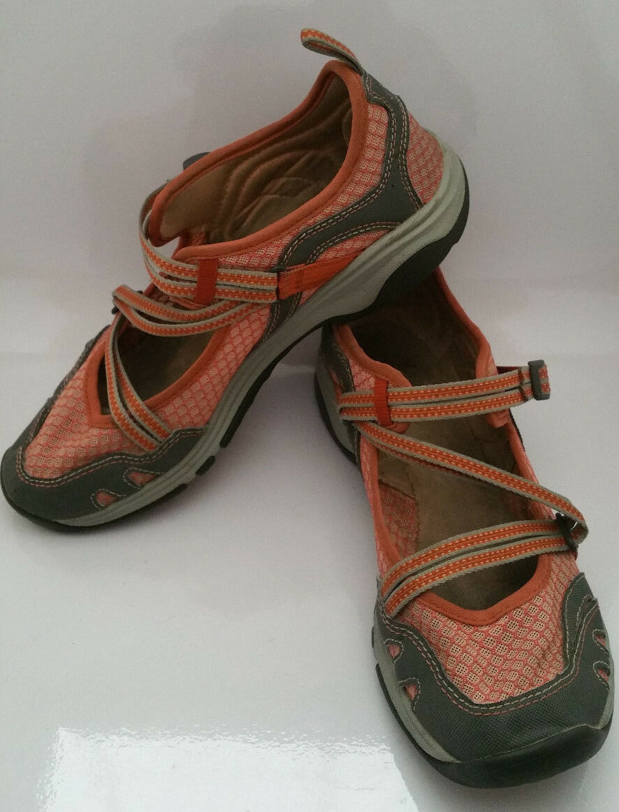 CHACO Mary Jane Outcross EVO MJ Mecca shoes Sandals Womens 9 orange