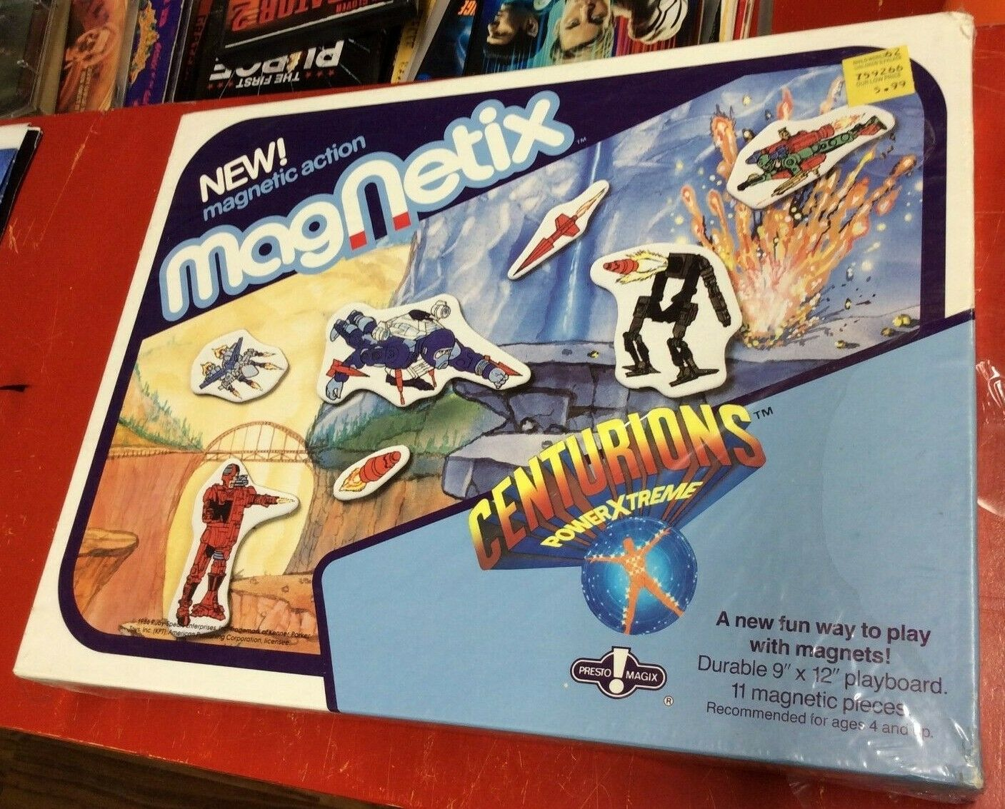 Vintage 1986 Presto Magix MagNetix Centurions Sealed Play Set New In Box  Pics