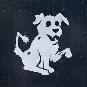 Funny-Deadly-Zombie-Friendly-Dog-On-The-Board-Car-Or-Laptop-Decal-Vinyl-Sticker