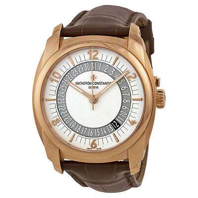 Vacheron Quai De L'lle Silver Dial Brown Leather Mens Watch 86050000R-I0P29