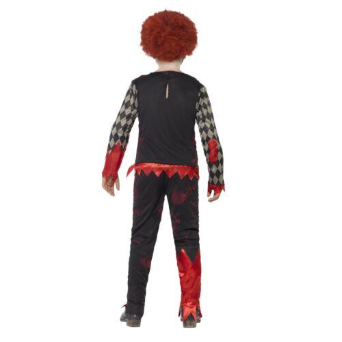 Bambino Deluxe Costume da Zombie Clown Ragazzi Spaventoso Halloween fantasia Abito Outfit Kids