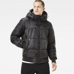 8dc8b422037 G Star Men's Whistler Black Bomber Puffer Jacket New with Tags Size ...