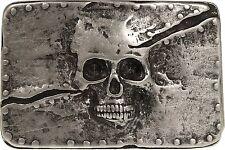 Buckle mit Totenkopf Motiv Gürtelschnalle Gürtelschließe