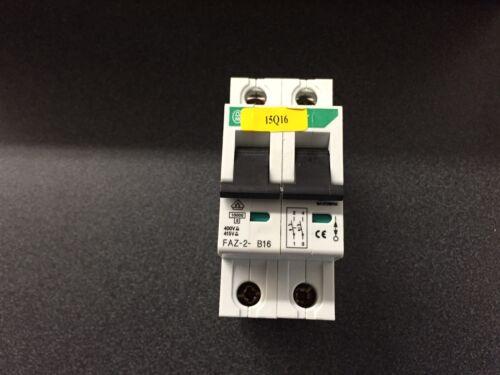 KLOCKNER MOELLER FAZ-2-B16 FAZN-B16 *USED* Free S/&h