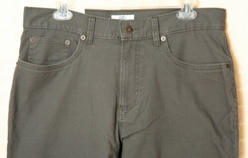 Men/'s FLANNEL LINED Pants STRETCH Cotton Straight Fit Black Navy Blue Beige Gray