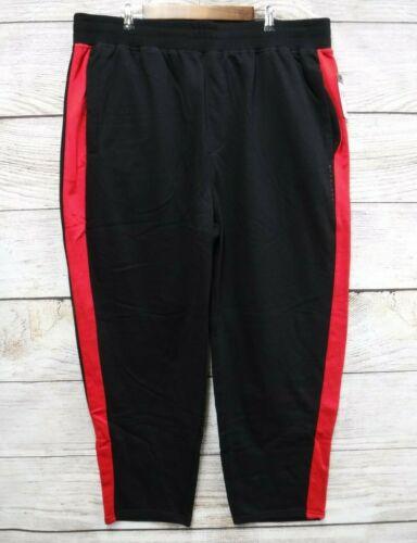 Sean John Mens Size 4X 4XL 4XB Black /& Red Side Striped Fleece Sweat Pants New