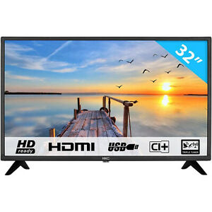 "TV LED HKC 32F1D 32"" POLLICI HD READY 720p DIGITALE TERRESTRE HDMI DVB-T2 VESA"