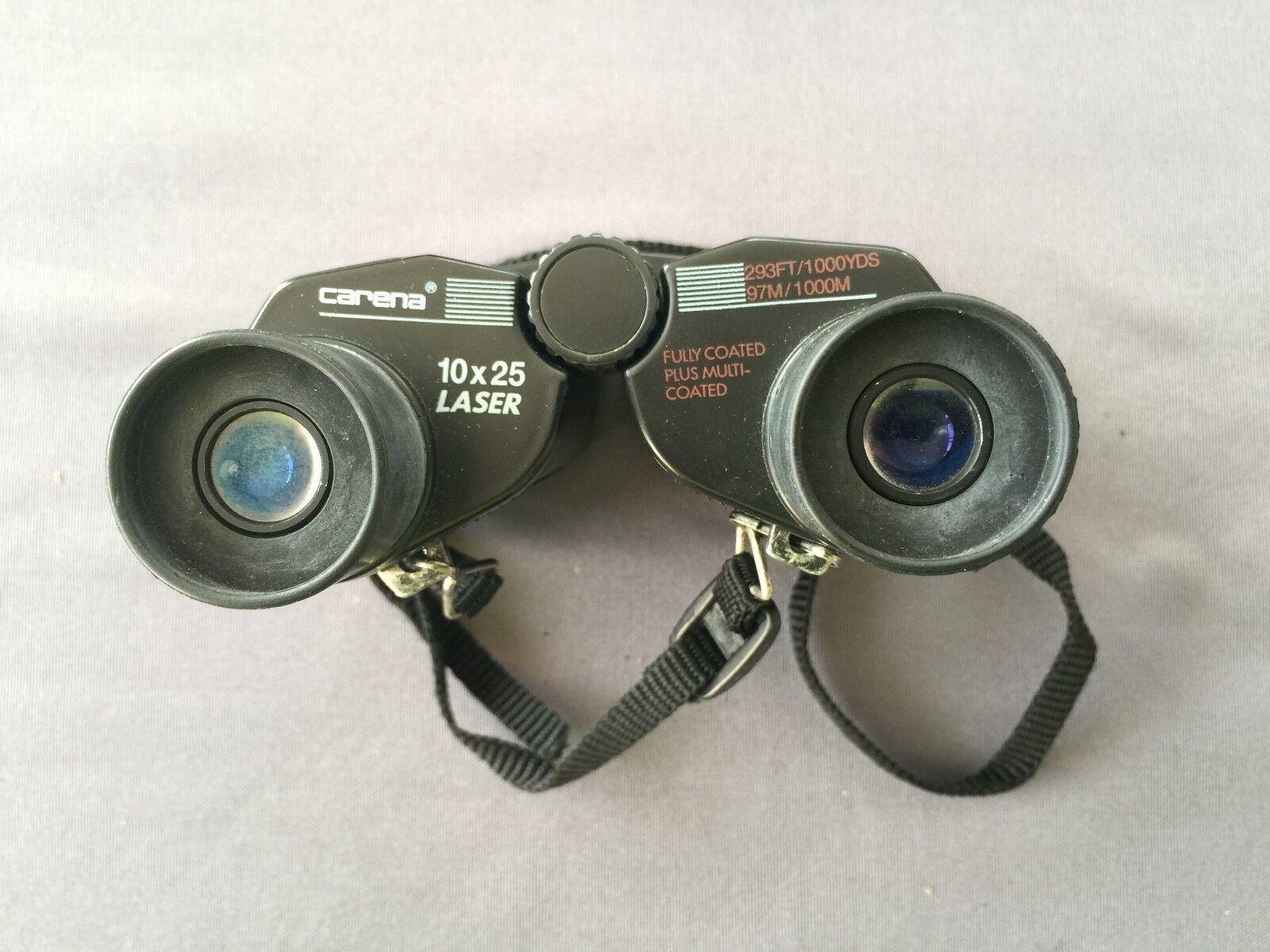 Prismáticos binocular CARENA 10X25 LASER con estuche 293FT 1000YDS 97M 1000M