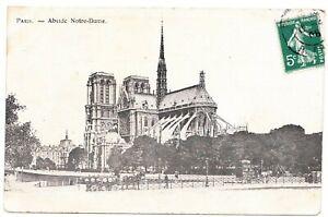 CPA-Kathedrale-Notre-Dame-De-Paris-Pfeil-Apsis-1908