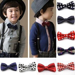 Novelty Boys Kids Children Toddler Bow Tie Necktie Bowtie Pre-Tied Wedding Party