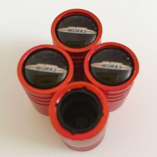 Cooper Works Mate Válvula Neumático Polvo Tapas de plástico rojo dentro de todos los modelos Antiadherente