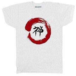 JAPANESE WARRIOR SAMURAI SUN ABSTRACT KARATE MARTIAL ARTS CHINESE ENZO T SHIRT