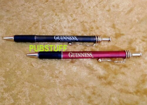 GUINNESS DRAUGHT BEER 2 PEN SET ~ GENUINE NEW BREWERY MERCHANDISE ~ FREE POSTAGE