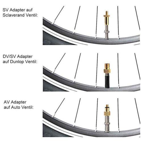 Bicycle Valve Adapter Bike Pump Tire Inflator Compressor Schrader Road Tool 8C