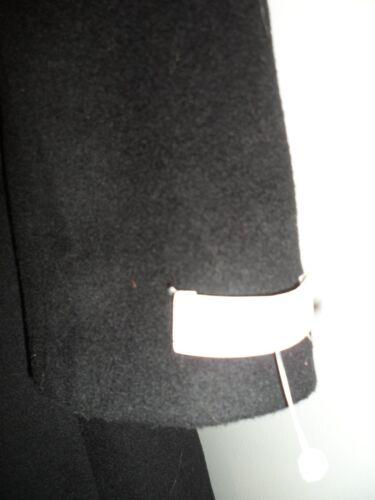 Cappotto Calvin nero Trench invernale ecopelliccia grigio Nwot M lana Ck Klein in TSRSrXO
