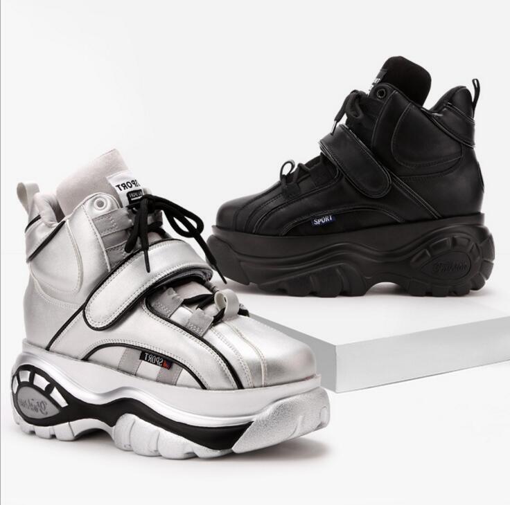 Para Mujeres con cordones Altas Altas Altas Plataforma Alta Top Tenis Deportivas zapatos cómodos runing Sports  Todos los productos obtienen hasta un 34% de descuento.