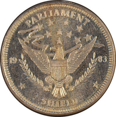 1983 Parliament Shield 1oz .999 Fine Silver Round