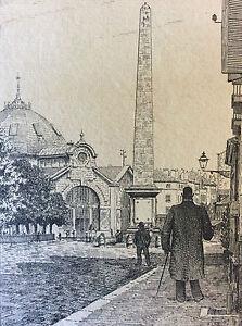 Saone-et-Loire-Bourgogne-1895-l-039-obelisque-Chalon-sur-Saone-L-Coin-Rare