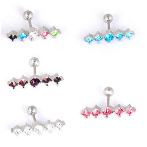 Cristal Barbell Oreille Tragus Cartilage Boucles d/'oreille Bars Body Piercing Jewelry