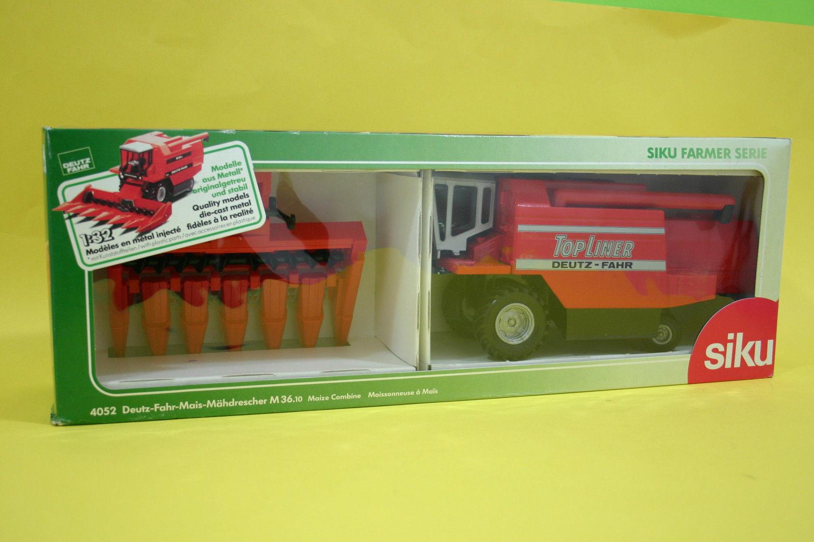 Deutz Fahr tracteur HARVESTER M 36.10 SIKU 4052 Top Liner Farmer Farm Toy 1 32