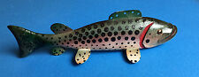 Hand Carved FOLK ART ICE FISHING SPEARING DECOY LURE JIG Painted Spotted Mark OR