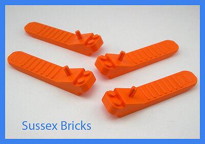 4x Lego Brick And Axle Orange Separator P//N 96874 NEW