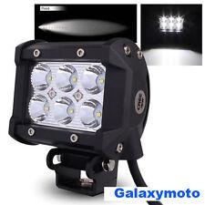"4"" Cree White 6 LED 18w Flood Beam Adjustable Off Road Roof/Cab/Work Light bar"