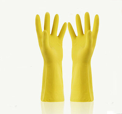 Women/'s Everyday Washing Cleaning Kitchen Glove Rubber Household Long Gloves L