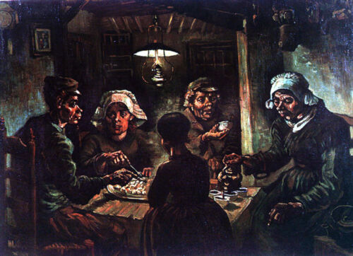 VAN GOGH THE POTATO EATERS EXPRESSIONISM GICLEE PRINT FINE CANVAS