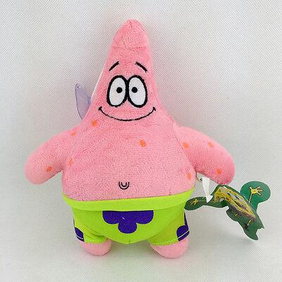 "2X SpongeBob Squarepants Patrick Star Friends Sea Plush Toy Stuffed Animal 7/""-8/"""