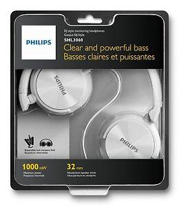 Cascos-Philips-Blancos-SHL3060-3-5-1000mW-Diadema-Cerrado-Auriculares-Musica-MP3