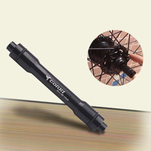 15mm Steckachse bis 9mm Adapter Schnellspanner Werkzeug Vorderrad Schaft Neu