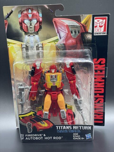 Transformers Generations Titans Return Deluxe Class FIREDRIVE & AUTOBOT HOT ROD
