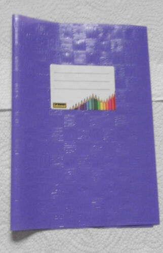 5 Stück Hefthüllen-//umschläge DIN A 4,Plastikheftfülle,Schule,Beruf,Uni
