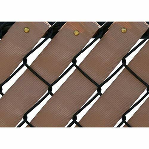 Easy to Install Chain Link Fence Privacy Weave w  Durable Metal Fasteners (250')