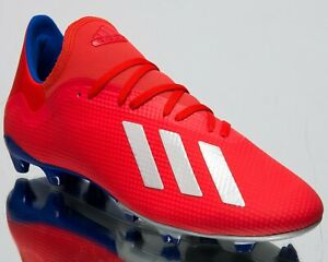 0ce3e2e7ab4 adidas X 18.3 FG New Men s Soccer Shoes Active Red Silver Metallic ...