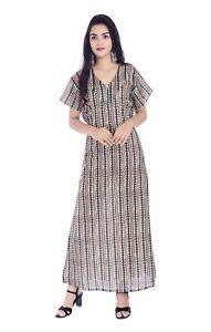 Details about Indian Cotton Women Nighty Housecoat Summer Night Dress  Sleepwear Plus Size