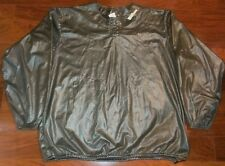 MENS XL SHINY WILSON WARM UP JACKET BASEBALL SOFTBALL WET LOOK RAIN POLY X-LARGE