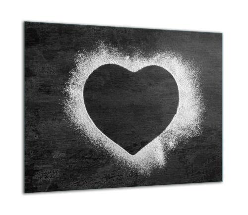 Herdabdeckplatten Ceranfeldabdeckung Spritzschutz Glas 60x52cm Herz Grau