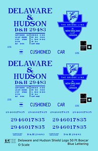 K4-O-Decals-Delaware-and-Hudson-50-Ft-Boxcar-Blue